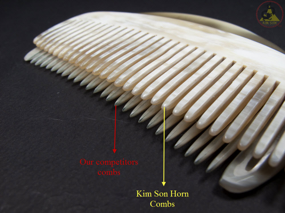 Compare horn comb between kimsoncraft and another supplier