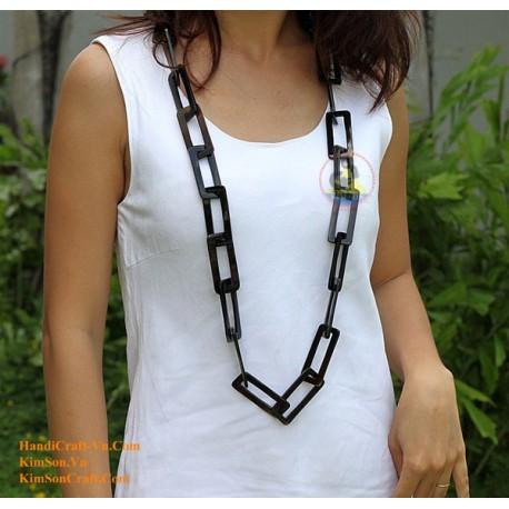 Природный круг рог ожерелье - Модель 0021