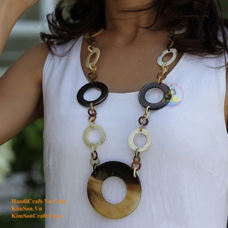 Природные ожерелье рог - Модель 0023