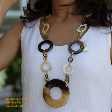 Naturhorn Halskette - Modell-0023