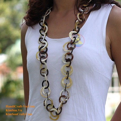 Naturhorn Halskette - Modell-0024