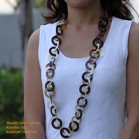 Naturhorn Halskette - Modell-0026