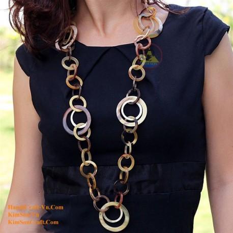 Природные ожерелье рог - Модель 0027