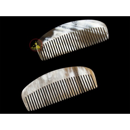 Real Horn Comb - Rake Wide Of Tooth - 12 x 5 cm - 4.72 x 1.96 Inch