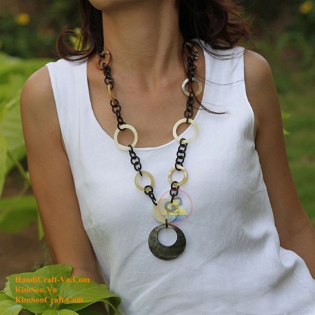 Natural horn necklace - Model 0033