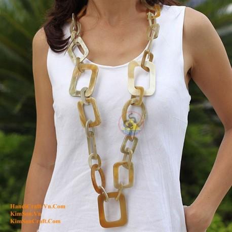 Природные ожерелье рог - Модель 0035