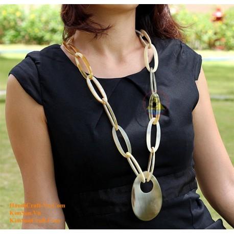 Naturhorn Halskette - Model 0038