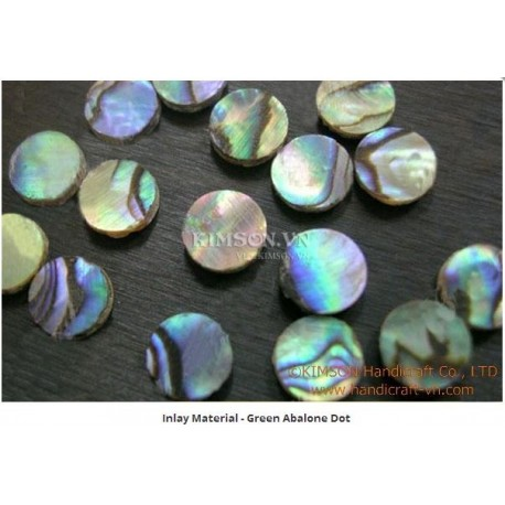 Inlay Material - Green Abalone Dot