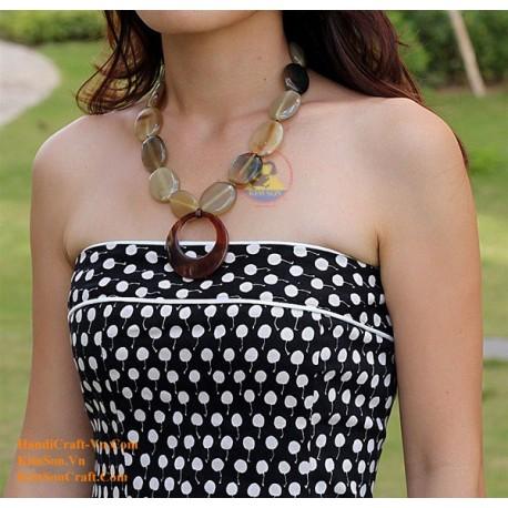 Natural horn necklace - Model 0041
