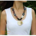 Natural horn necklace - Model 0045