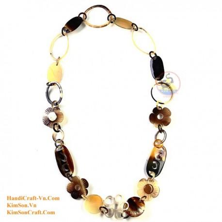 ЦВЕТОК Природный рог ожерелье - Модель 0048