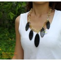 Natural horn necklace - Model 0055