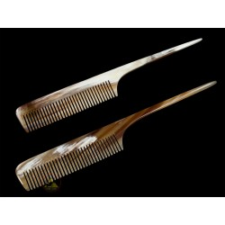 Real Horn Comb - With Long Hair Stick - 19 x 3.5 cm - 7.48 x 1.37 Inch