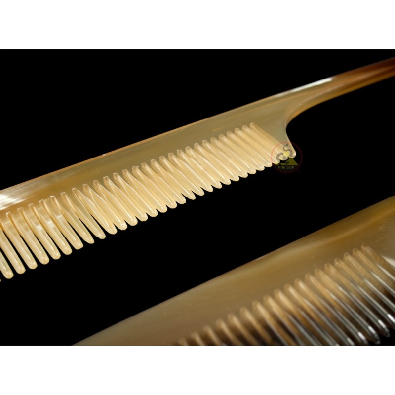 real horn comb with long hair stick 19 x 3 5 cm. Black Bedroom Furniture Sets. Home Design Ideas