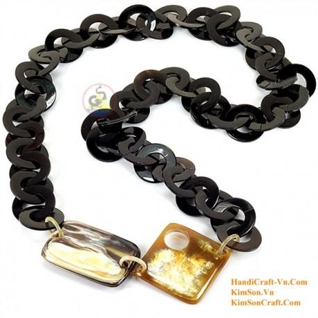 Природные ожерелье рог - Модель 0072