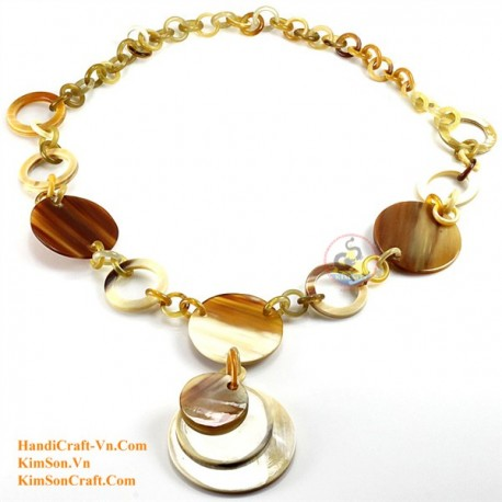 Natural horn necklace - Model 0089