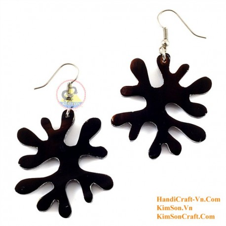 Organic Cow Horn - Black - Earrings