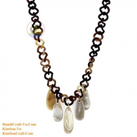 Природные ожерелье рог - Модель 0102