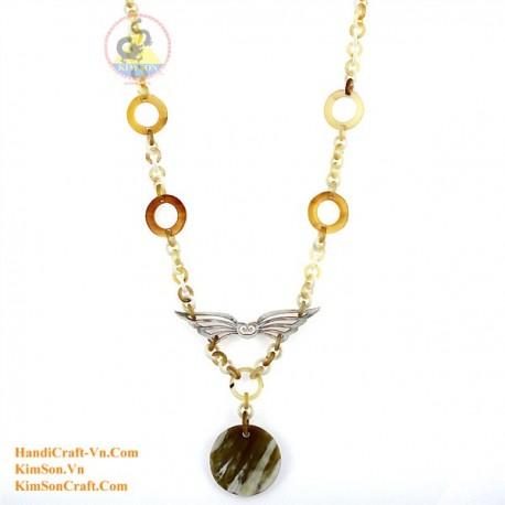 Природные ожерелье рог - Модель 0111