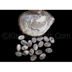 Одна часть подлинной белый мать элементов ювелирных жемчужина кабошон, ювелирные изделия частью