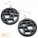 Organic Black Horn - Earrings