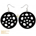 Organic Black Horn - Ochna integerrima Style - Earrings