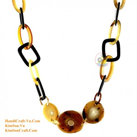Natural horn necklace - Model 0119