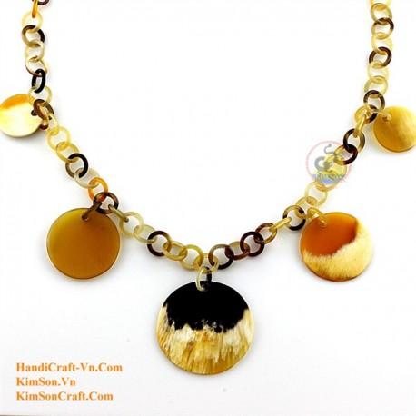 Природные ожерелье рог - Модель 0124