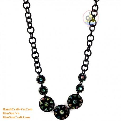 Природный рог и ушка ожерелье - Модель 0131