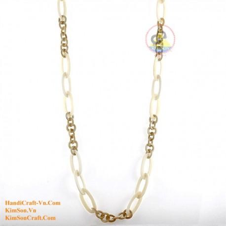 Природный рог и кость ожерелье - Модель 0141