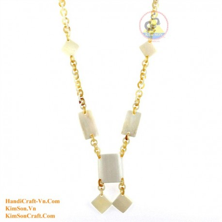 Natural horn & bone necklace - Model 0143