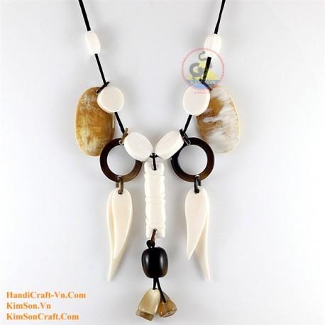 Natural horn necklace - Model 0158