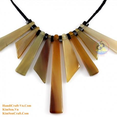 Природные ожерелье рог - Модель 0161