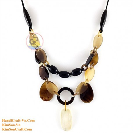 Природные ожерелье рог - Модель 0162