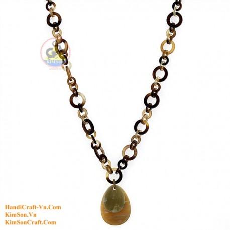 Природные ожерелье рог - Модель 0170