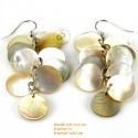 Organic Gold Mother of Pearl - Circle - Earrings
