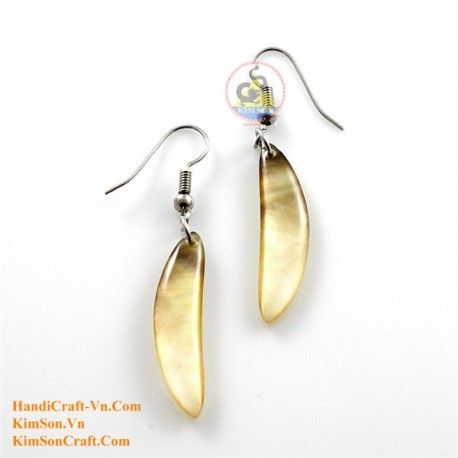 Organic Gold Mother of Pearl - Earrings