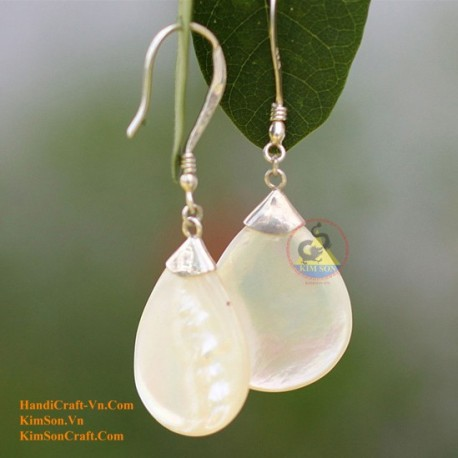 Organic Mother of Pearl - Silver - Earrings