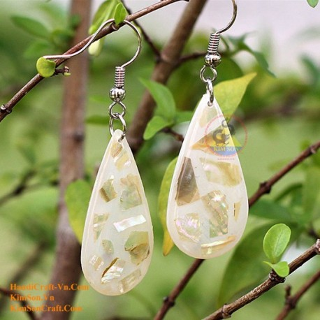 Organic Mother of Pearl - Silver and Gold - Earrings