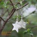 Organic Mother of Pearl - Star - Silver - Earrings