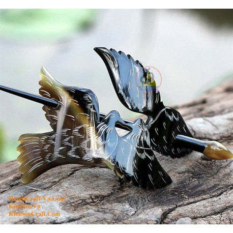 Birds Organic Horn Hair Barrette
