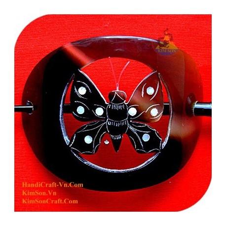 Бабочка Органические Хорн и перламутр волос Barrette