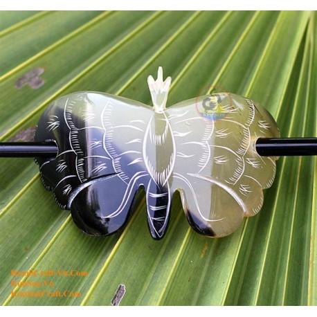 Butterfly Organic Horn Hair Barrette
