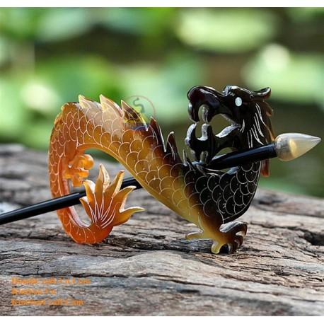Dragon Organic Horn Hair Barrette