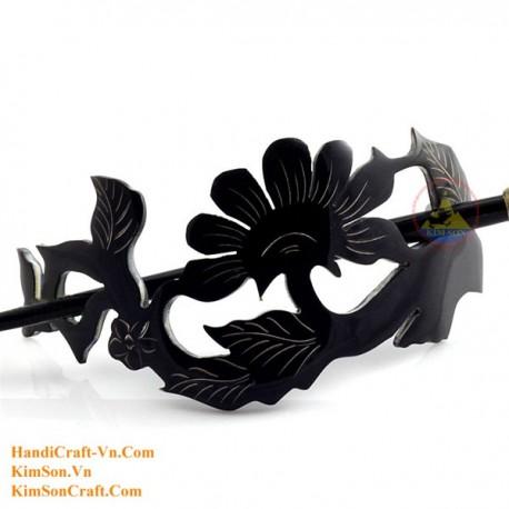 Flower Organic Horn Hair Barrette