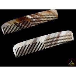 本物のホーン櫛歯のダブル スタイル - 15 x 3 cm (5.90 x 1.18 インチ)