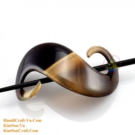 Organic Horn Hair Barrette