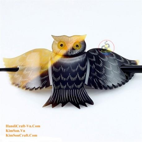 Owl Organic Horn Hair Barrette