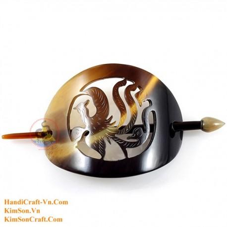 Phoenix Organic Horn Hair Barrette