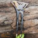 Бабочка Двухместный Придерживайтесь Органические Хорн волос Придер